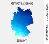 germany deutschland map in... | Shutterstock .eps vector #1065381608