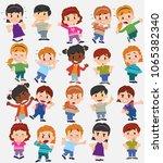 cartoon character boys and... | Shutterstock .eps vector #1065382340