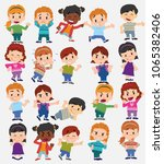 cartoon character boys and... | Shutterstock .eps vector #1065382406