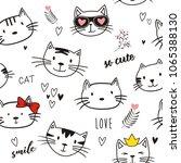 vector illustration seamlees... | Shutterstock .eps vector #1065388130