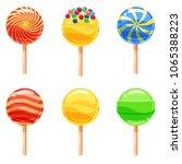 set of colorful lollipops ...