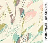 abstract floral seamless... | Shutterstock .eps vector #1065392276