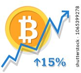 bitcoin exchange rate growth... | Shutterstock .eps vector #1065399278