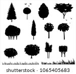 set of different stylized... | Shutterstock .eps vector #1065405683