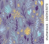 vector hand drawn floral... | Shutterstock .eps vector #1065415073