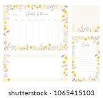 cute vector weekly planner... | Shutterstock .eps vector #1065415103