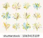 cute and elegant vector floral... | Shutterstock .eps vector #1065415109