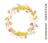 cute and elegant vector floral... | Shutterstock .eps vector #1065415136