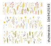 vector elegant cute flower big... | Shutterstock .eps vector #1065415193