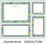 cute vector weekly planner... | Shutterstock .eps vector #1065415196