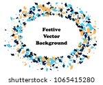 festive color rectangle... | Shutterstock .eps vector #1065415280
