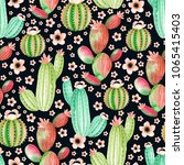 seamless pattern with... | Shutterstock . vector #1065415403
