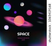 vector realistic and futuristic ... | Shutterstock .eps vector #1065419168