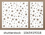 set decorative panel laser... | Shutterstock .eps vector #1065419318