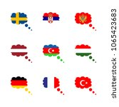 icon flag with germany  sweden... | Shutterstock .eps vector #1065423683