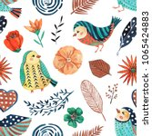 seamless pattern with... | Shutterstock . vector #1065424883