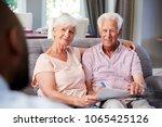 happy senior couple taking... | Shutterstock . vector #1065425126