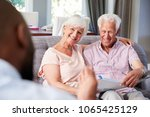 happy senior couple taking... | Shutterstock . vector #1065425129