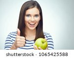 face portrait of smiling... | Shutterstock . vector #1065425588