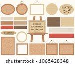 set of assorted wooden...   Shutterstock .eps vector #1065428348