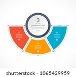 infographic semi circle in thin ... | Shutterstock .eps vector #1065429959