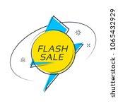 flat style flash shape banner ... | Shutterstock .eps vector #1065432929