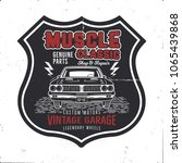 vintage hand drawn muscle car t ...   Shutterstock .eps vector #1065439868