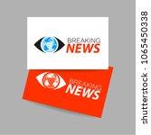 breaking news live conceptual... | Shutterstock .eps vector #1065450338