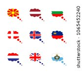 icon flag with macedonia  flag... | Shutterstock .eps vector #1065452240