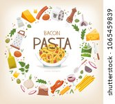 group of vegetables  dairy...   Shutterstock .eps vector #1065459839