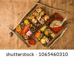traditional japanese meal... | Shutterstock . vector #1065460310