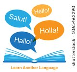 learn another language concept... | Shutterstock .eps vector #1065462290