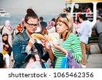 april 2 2018  tourist women are ... | Shutterstock . vector #1065462356