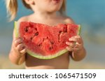 unrecognizable caucasian little ... | Shutterstock . vector #1065471509