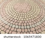 stone pavement in perspective.... | Shutterstock . vector #1065471830