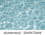 texture of water in swimming... | Shutterstock . vector #1065472646