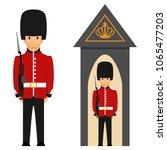 London Queen\'s Guard. Vector...