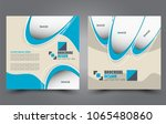 square flyer template. simple... | Shutterstock .eps vector #1065480860