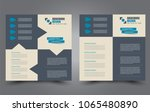 square flyer template. simple... | Shutterstock .eps vector #1065480890