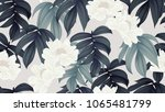 botanical seamless pattern ... | Shutterstock .eps vector #1065481799