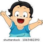 illustration of a kid boy happy ...   Shutterstock .eps vector #1065482393