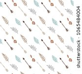 seamless pattern with tribal... | Shutterstock .eps vector #1065484004