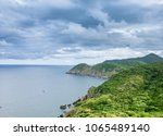 a tranquil island with... | Shutterstock . vector #1065489140