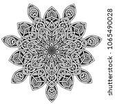 black and white mandala vector... | Shutterstock .eps vector #1065490028