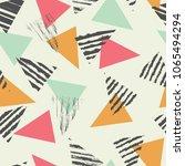 geometric triangle seamless... | Shutterstock .eps vector #1065494294