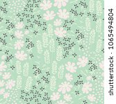 floral seamless pattern with... | Shutterstock .eps vector #1065494804
