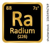 periodic table element radium... | Shutterstock .eps vector #1065496769
