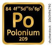 periodic table element polonium ... | Shutterstock .eps vector #1065496790