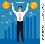 young and handsome businessman... | Shutterstock .eps vector #1065496973