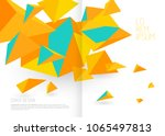 book cover design template with ... | Shutterstock .eps vector #1065497813